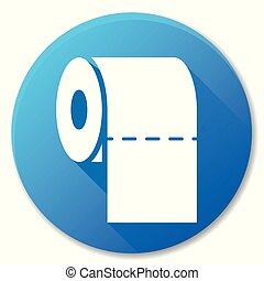 Illustration of paper roll blue circle icon