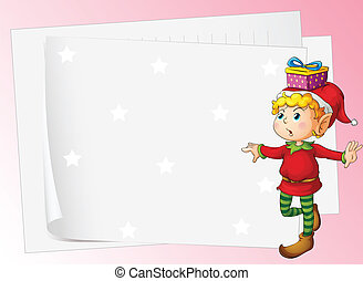 paper sheets and boy - illustration of paper sheets and boy...