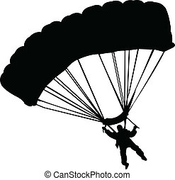 illustration of parachutists - vector