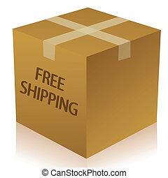 illustration of parcel box on white background
