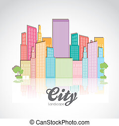 pastel buildings - Illustration of pastel buildings, vector...