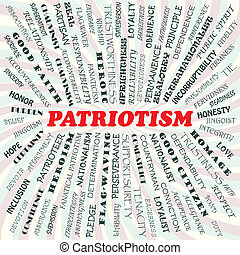 patriotism - illustration of patriotism concept.