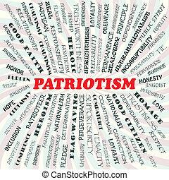 patriotism - illustration of patriotism concept.
