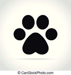 paw print icon on white background
