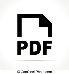 pdf document icon on white background