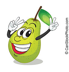 illustration of pear on a white background