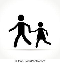 pedestrians icon on white background