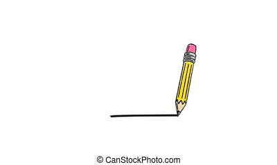 Illustration of pencil against white background
