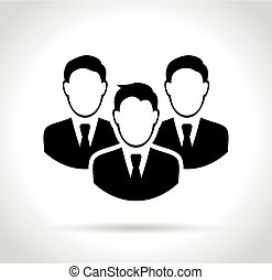 people icon on white background
