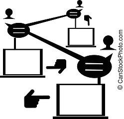 Illustration of people network