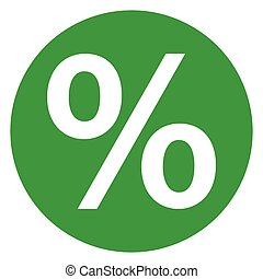 percentage green circle icon