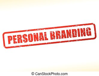 personal branding text stamp