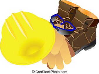 personal protective equipment - illustration of personal ...