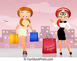 personal shopper - illustration of personal shopper