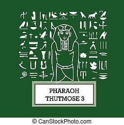 Illustration of Pharaoh Thutmose III. AI 8 supported.