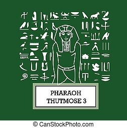 Illustration of Pharaoh Thutmose III. AI 8 supported.