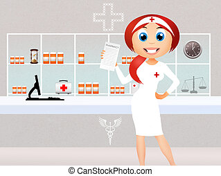 Pharmacy - illustration of Pharmacy