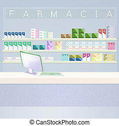 illustration of pharmacy