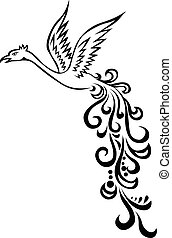 Phoenix berd tattoo - illustration of Phoenix berd tattoo
