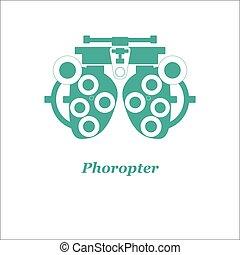 Illustration of phoropter. Vector. Optician, ophtalmology, ...