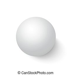 Photorealistic Vector Isolated 3D Ball on a White Background