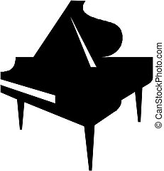 Illustration of piano silhouette