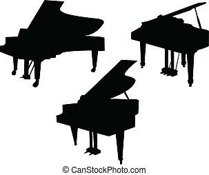 Illustration of piano