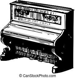 Illustration of piano silhouette