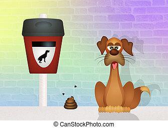 pick up dog poop - illustration of pick up dog poop