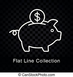 piggy bank icon on checkered background