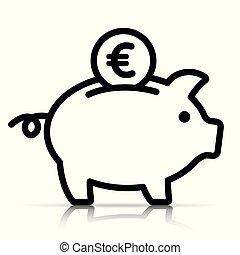piggy bank on white background