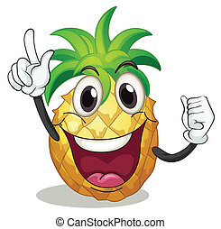 pineapple - illustration of pineapple on a white background