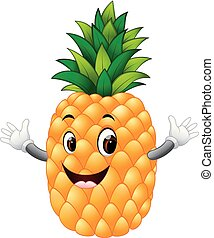 pineapple with face