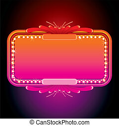 Illustration of Pink Retro Marquee. Vector Image -...