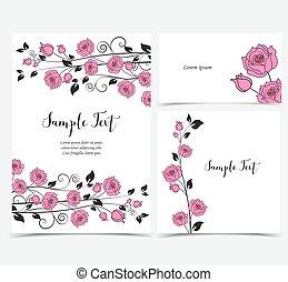 Illustration of pink roses