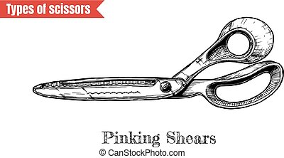 illustration of pinking shears