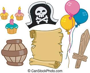 Pirate Birthday Design Elements