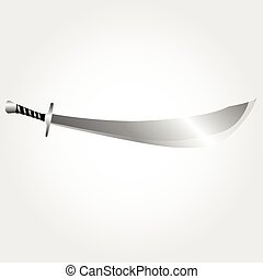 Illustration of pirate sword