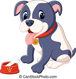 Pit Bull Dog - illustration of Pit Bull Dog