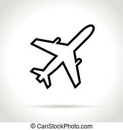 plane icon on white background