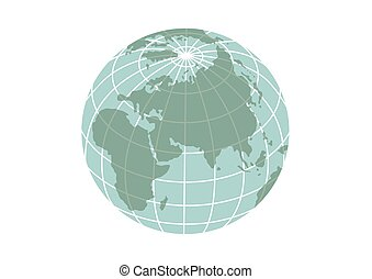 Illustration of planet Earth icon isolated on a white background..eps