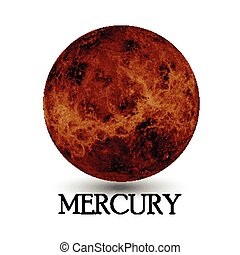 Planet Mercury - Illustration of Planet Mercury