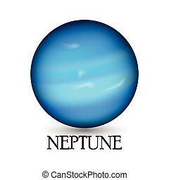 Planet neptune - Illustration of Planet neptune