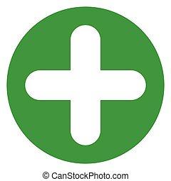 plus sign green circle icon