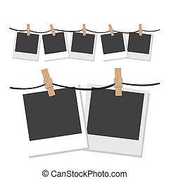 polaroid photographs - Illustration of polaroid photographs...