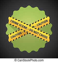 Police Barricade Tape Flat icon vector background