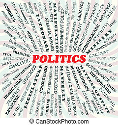 politics - illustration of politics concept.