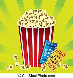 Illustration of popcorn