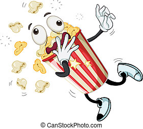 popcorn - illustration of popcorn on a white background