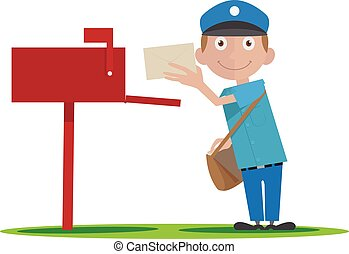 postman - Illustration of postman